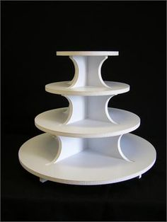 Strong Plastic Laminated Foam Core Round Cupcake Stand (Holds up to 75 Cupcakes) Cupcake Stand Wedding, Cupcake Stands, Cupcake Towers, Cupcake Display, Cake Holder, Craft Show Ideas, Base, Jewellery Display, Cupcake Cakes