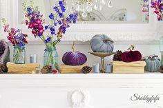Elegant Jewel Tone Mantel Ideas   Shabbyfufu
