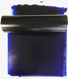 Blue printing ink and large roller