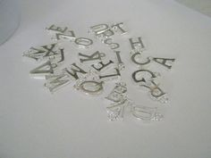 Ten Silver Plated Alphabet Initial Letter Charms