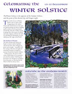 Winter Solstice:  Celebrating the #Winter #Solstice.