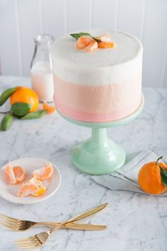 orange sherbet cake | designlovefest