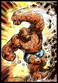 The Thing (Ben Grimm) Fantastic Four. Comic Book Characters, Marvel Characters, Comic Character, Comic Books Art, Comic Art, Book Art, Marvel Comics Superheroes, Marvel E Dc, Marvel Heroes