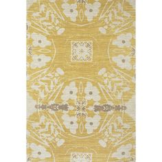Available in beige or yellow, this stunning rug adds to your home's design. With an eye-catching abstract pattern, this Feizy Verapaz Rug makes a perfect backdrop for your interior decor. Made of jute and cotton, this rug has a hand-woven construction.