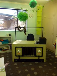 My desk in our Year 2/3 Jungle Safari themed classroom!