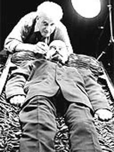 Specialist working on the process to preserve Lenin's body