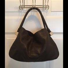 Chanel Brown Gold Leather Blocks Tote Bag Amazing bag.  Snap closure.  2 pockets.  Great condition.  Lining has been replaced. CHANEL Bags Totes