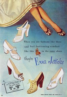 Lovely Enna Jetticks shoe styles from 1952. Oh the second to last ones!