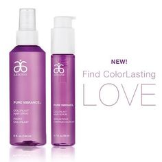NEW hair care with Pure Vibrance! No drying alcohol Hair Spray and Hair Serum to keep your hair beautiful. Color stay formula in both!  www.jenniferlevish.arbonne.com