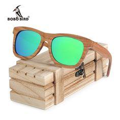 d3f59f82d0 SeaDog Jack BOBO BIRD Square Sunglasses Men Women Retro Polarized Wood Sun  Glasses gafas de lujo