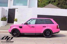 Pink range rover!