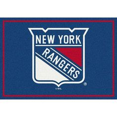 "My Team by Milliken NHL New York Rangers 533322 2001 2xx Novelty Rug Size: 3'10"" x  5'4"""