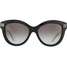 Valentino Rockstud-Front Cat-Eye Sunglasses (£225) ❤ liked on Polyvore featuring accessories, eyewear, sunglasses, glasses, shades, cat eye sunglasses, logo sunglasses, cat eye glasses, valentino sunglasses and cateye glasses