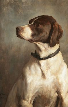 English Pointer by George Percy R.E. Jacomb-Hood, 1882