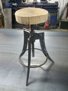 Industrial chic stool