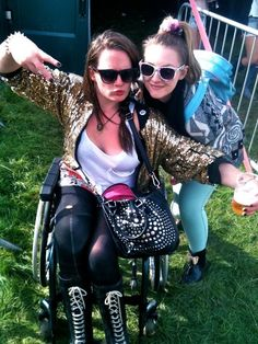 """It's so great to see you out and about."" 