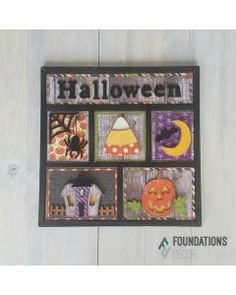 Brew up something spook-tacular with the Halloween Shadow Box Kit by Foundations Decor. The package includes an unfinished wood craft project for you to paint Homemade Xmas Decorations, Spooky Halloween Decorations, Halloween Wood Crafts, Halloween Cards, Halloween Scrapbook, Happy Halloween, Cool Diy Projects, Craft Projects, Craft Ideas