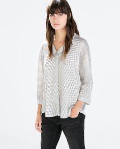 Polka Dot Kimono Sleeve Blouse from Zara R499,00