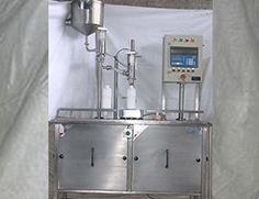 Ved Engineering Works leading manufacturers of Manual Dahi Cup  Jar filling Machine for filling and sealing milk, lassi, juice,chaach and non carbonated drinks.