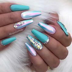 Turquoise chrome ombré coffin nails Summer nail art design Spring easter Nails • • • • @vetro_usa 35 #nails#nailart#coffinnails#MargaritasNailz#vetrogel#nailfashion#naildesign#nailswag#hairandnailfashion#nailedit#nailcandy#nailprodigy#ombrenails#nailsofinstagram#nailaddict#nailstagram#chromenails#instagramnails#nailsoftheday#nailporn#ombrechrome#modernsalon#unicornnails#easternails#modernnails#naildesigns#turquoisenails#bluenails#easternails#springnails
