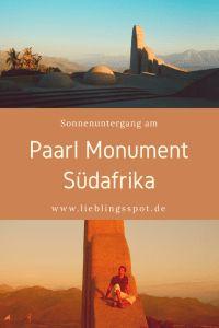 Sonnenuntergang auf dem Paarl Monument in den Winelands in Südafrika!