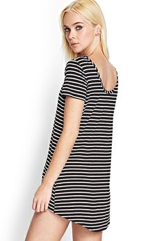 Striped Boat Neck Top | FOREVER 21 - 2000087346