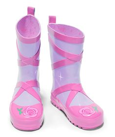 Loving this Lilac Ballerina Rain Boot on #zulily! #zulilyfinds