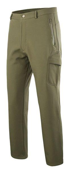 17b55164 Men's Thermal Hiking Pants Lined Ski Pant Waterproof Outdoor Pants - Army  Green - C6188D8WAR6