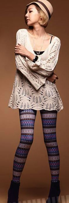 Aztec print leggings