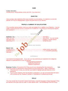 Resume Templates | Sample Resumes   Free Resume Tips   Resume Templates
