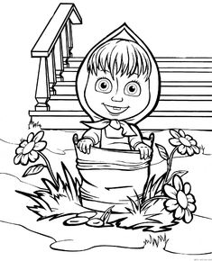 Masha and the Bear Coloring Pages 16 Coloring pages for kids