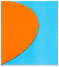 Ellsworth Kelly, Orange Relief with Blue (2011). All Images via Matthew Marks. | Kelly has been experimenting with color spectrums since the sixth grade, and with painted relief since 1949, after he moved to Paris and was influenced by Constantin Brancusi's simplified sculptural forms. ...he constantly sketches his ideas, and finds inspiration in even the subtlest everyday shapes.