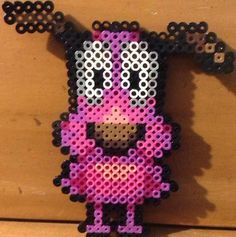 Courage the Cowardly dog perler beads