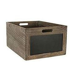 Beautiful Crafted From Paulownia Wood With Visible Grains And Knots, This Storage Box  Includes A Chalkboard Front And Cut Out Handles And Is Available In A  Choice Of ...