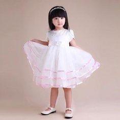 Sweet Chiffon With Beads And Frill Flower Girl Dress [TOQ120323008] - $52.59 : wedding fashion, wedding dress, bridal dresses, wedding shoes