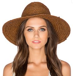 Straw brown circular hat