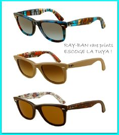 8bb08347262 Ray-Ban wayfarer rare prints. Preciosas !