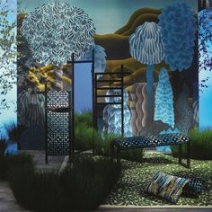 Set in the land of fantasy a dreamy panoramic dreamscape, reminiscent of the Kyoto gardens in Japan, realised in evocative artistry. This thrilling wallpaper design is available in one sensational colourway. Wallpaper Panels, Home Wallpaper, Wallpaper Wallpapers, Designers Guild, Christian Lacroix Wallpaper, Illusion 3d, Kyoto Garden, Stunning Wallpapers, Beautiful Wallpaper