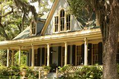 home exterior, porch, trees