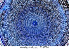 Koepel van de moskee, Oosterse ornamenten van Isfahan, Iran