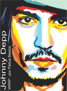 Pintando e Colorindo – Johnny Depp – pop art vetor