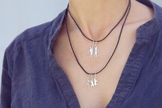 Family set of 5 elements sterling silver by LenaYastreb on Etsy