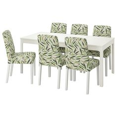 Ekedalen Bergmund (IKEA Table And 6 Chairs) site:140x200x43 cm color:White, fonnes ( Furniture > Dining Furniture > Dining Table Chair > Dining Sets ) #09408231 Table, Dining Chairs, Furniture, Home Decor, Products, Fantasy, Particle Board, White People, Chairs