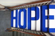 Hope - Poem Installation by Youngha Park, via Behance
