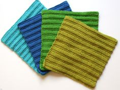 Practice your half-double crochet (HDC) skills with this faux-ribbed Serene Spa Washcloth pattern!