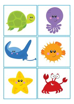 , - Lilly is Love Toddler Learning Activities, Preschool Education, Book Activities, Preschool Activities, Ocean Lesson Plans, Cartoon Sea Animals, Easy Coloring Pages, Seashell Art, Sea Theme