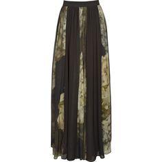Reiss Aurelia Insert Maxi Skirt ($265) ❤ liked on Polyvore