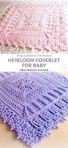 Baby Blankets with Cute Crochet Edgings - Pattern Center