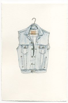 Mark Hall - Patch original watercolor clothing potraits