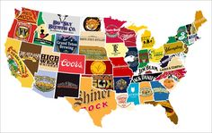 FUN - Another Handy Map of the U.S. Shows Each State's Biggest Liquor or Beer Brand | Adweek